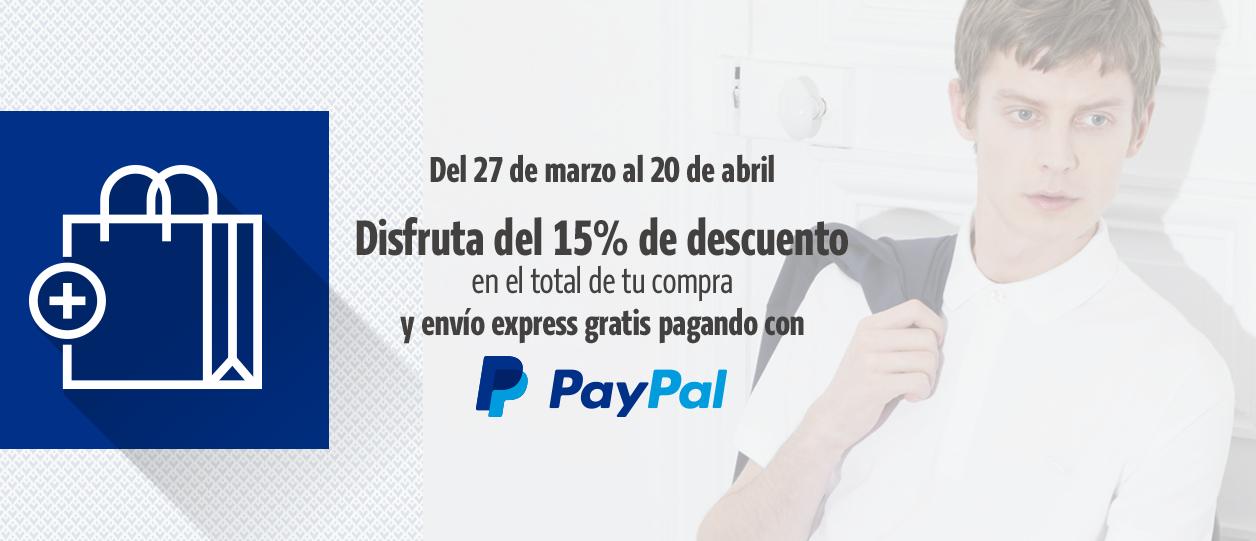 Lacoste online 15% descuento y envío express gratis pagando con Paypal