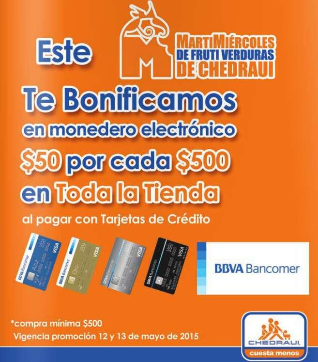 Chedraui: $50 de bonificación por cada $500 de compra con Bancomer