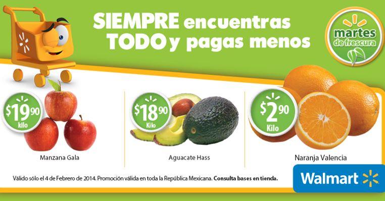 Martes de frescura en Walmart febrero 4: naranja $2.90 el kilo y más