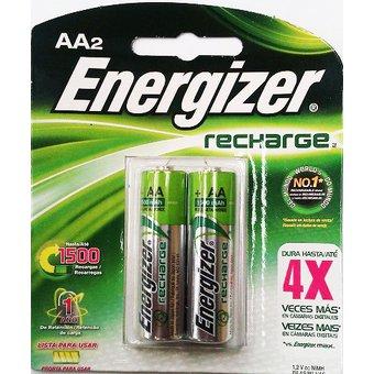 Linio: Pilas  Energizer recargable AAA  y  AA C/2 1500MAH