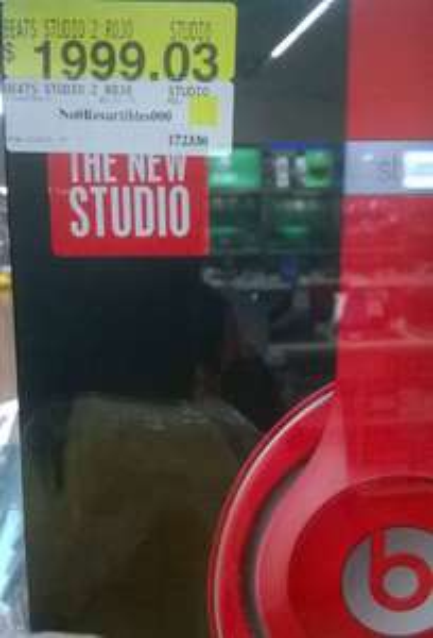 Walmart: audífonos Beats studio 2 a $1,999.03 y 12 MSI