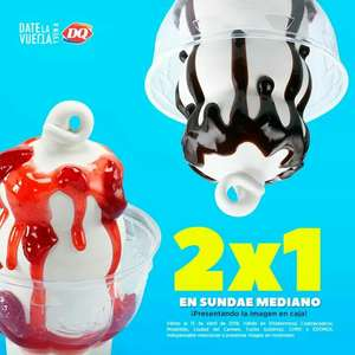Dairy Queen: 2x1 en Sundae Mediano presentado imagen.