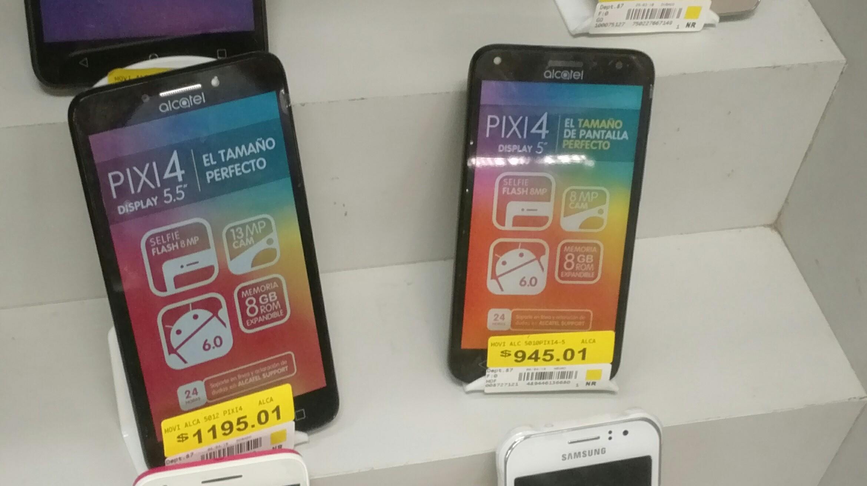 """Bodega Aurrerá: celular Alcatel Pixi 4 de 5"""" y 5.5"""" última liquidación"""