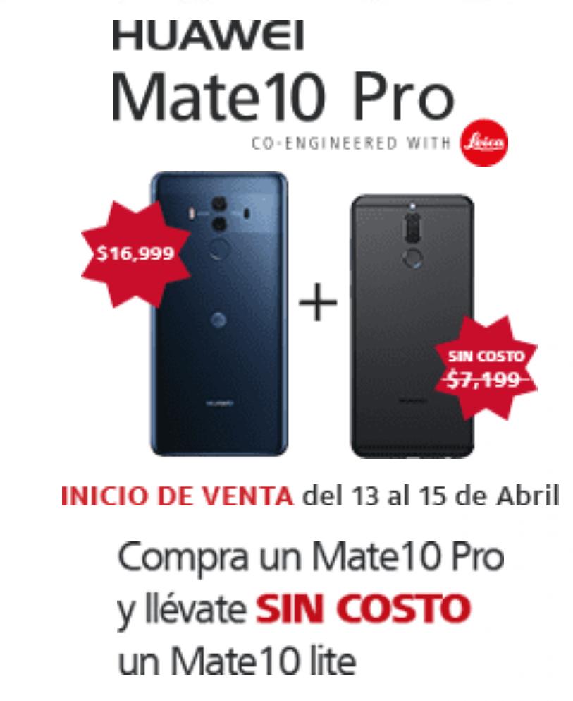 AT&T: Compra un Huawei Mate 10 Pro y te llevas gratis el Mate 10 lite