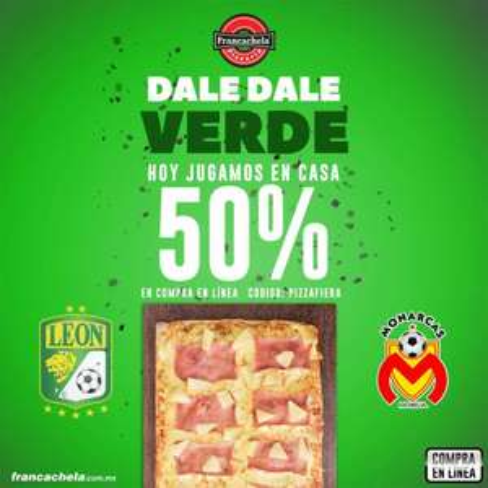 Francachela: 50% De Descuento Pizza Grande Pepperoni 89-50% =44.50