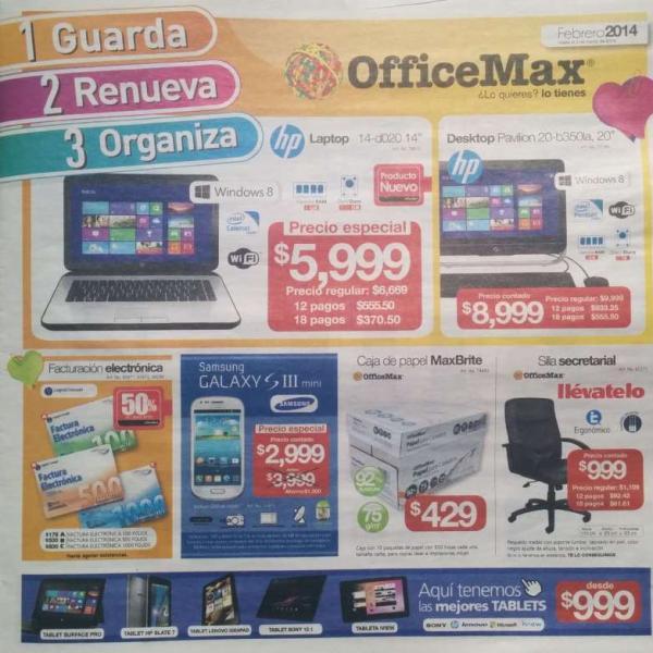 Folleto de ofertas en OfficeMax del 3 de febrero al 2 de marzo