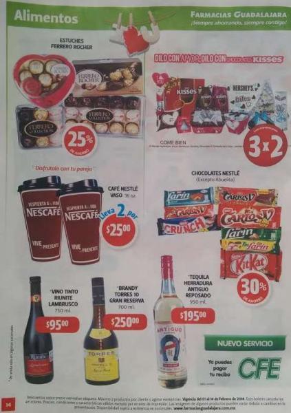 Folleto de ofertas en Farmacias Guadalajara del 1 al 14 de febrero 2014