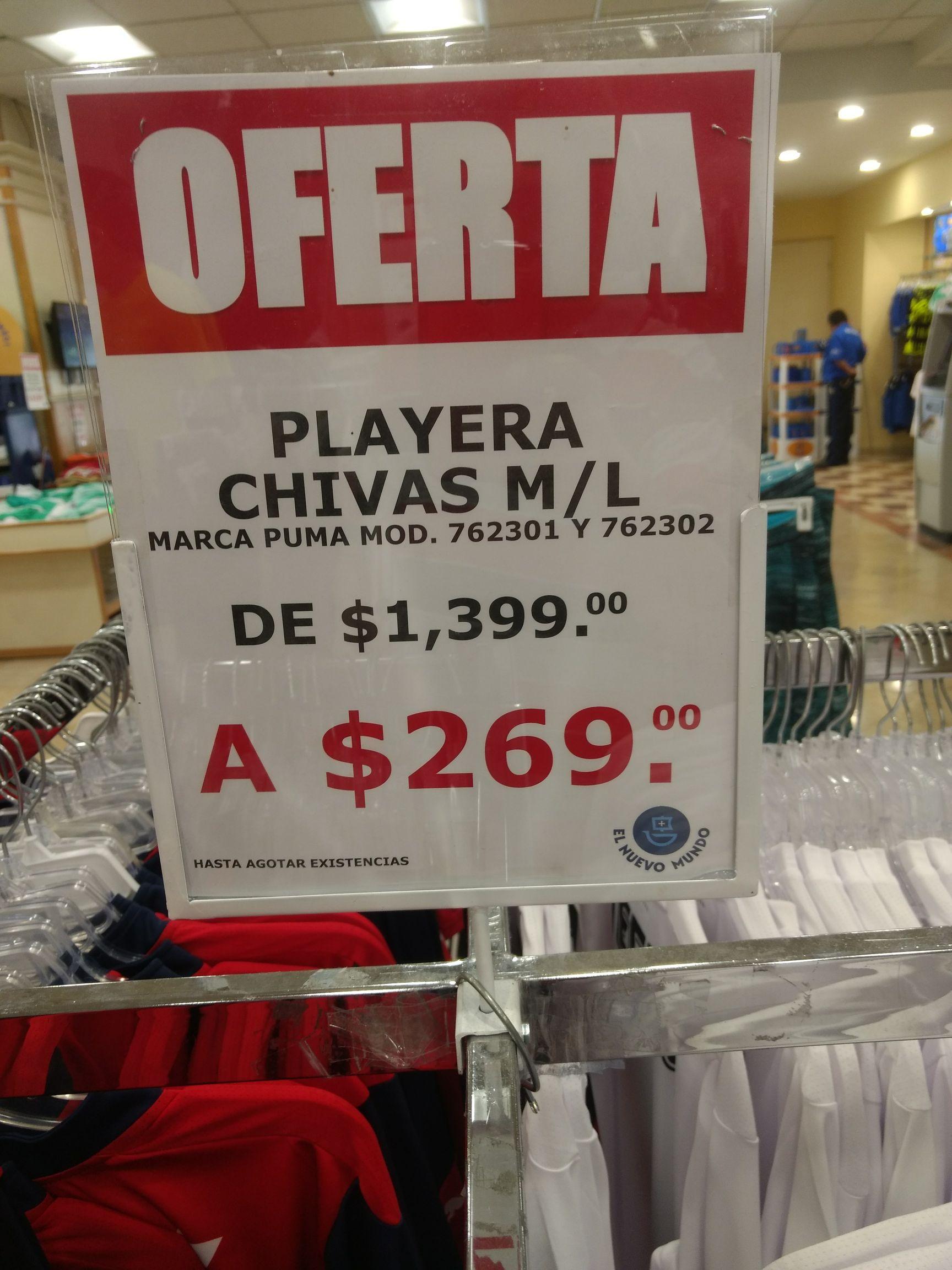 Playera oficial Chivas  marca puma, EL NUEVO MUNDO, MTY