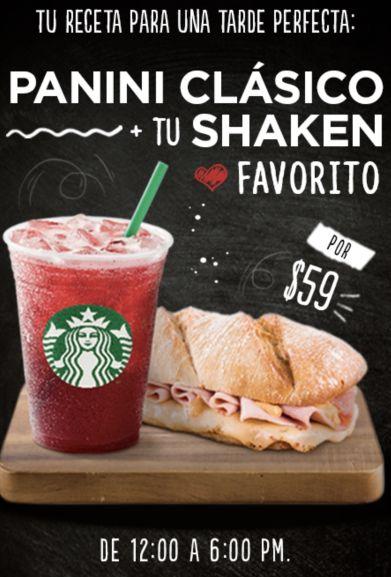 Starbucks: Panini y shaken
