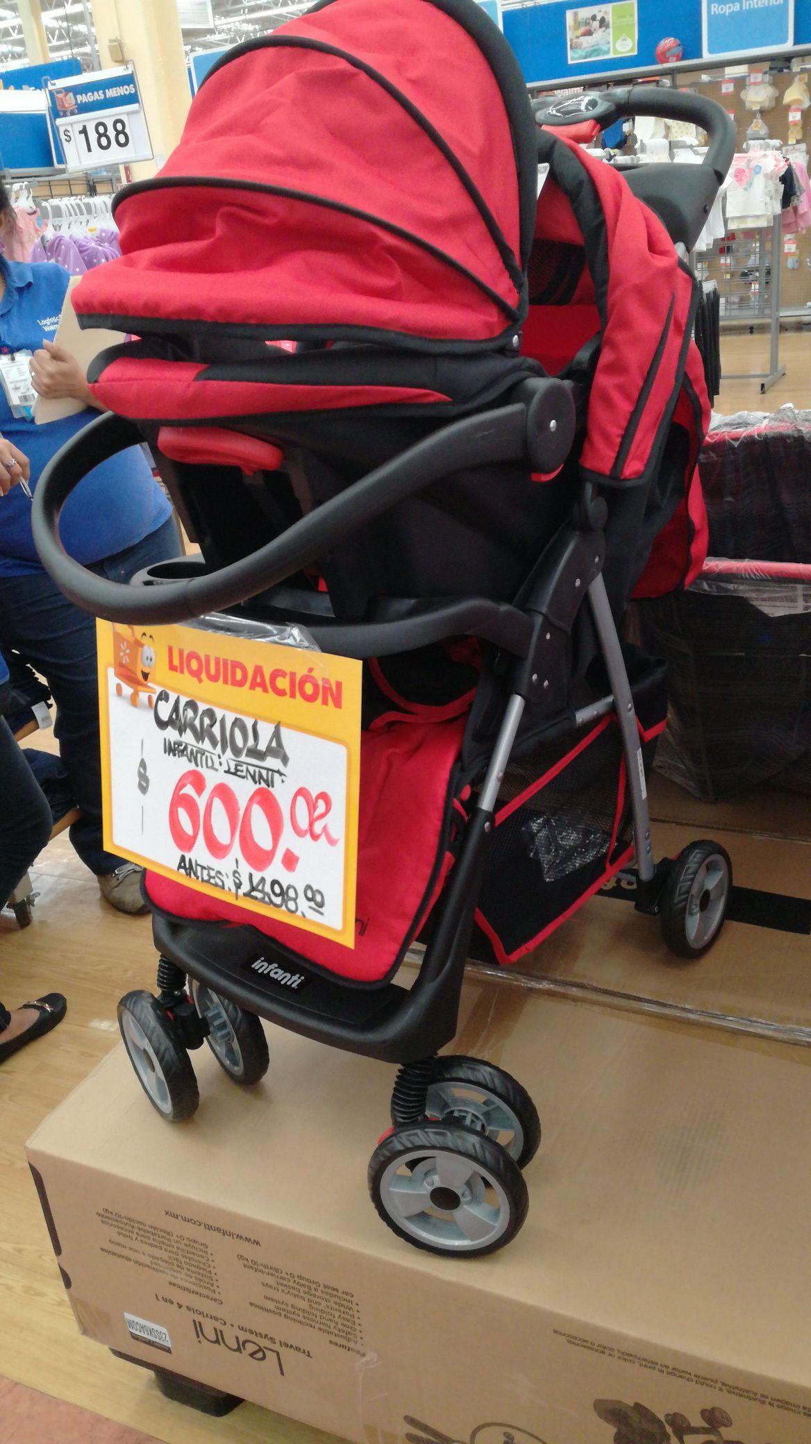 Walmart: Carriola con portabebe, autoasiento y corral