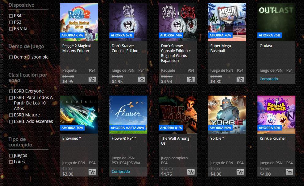 PSN Store: Venta Flash! Juegos a menos de $5 dólares