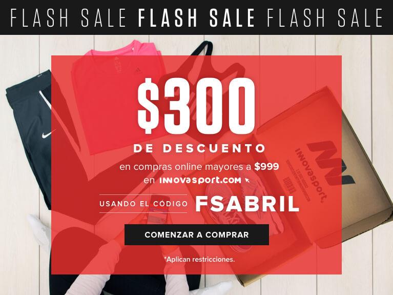 Innovasport: cupón $300 de descuento en compras de$999
