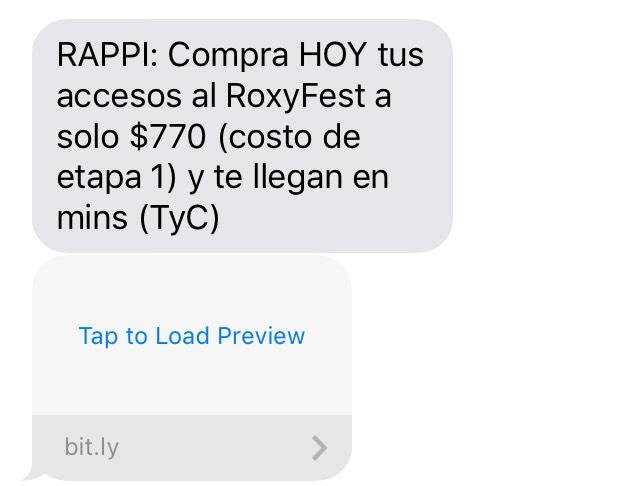 Rappi: Roxy Festival  a precio de etapa 1