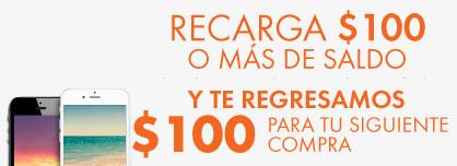 Linio: recarga $100 o más de saldo y recibe un cupón de $100 en compras minimas de $200