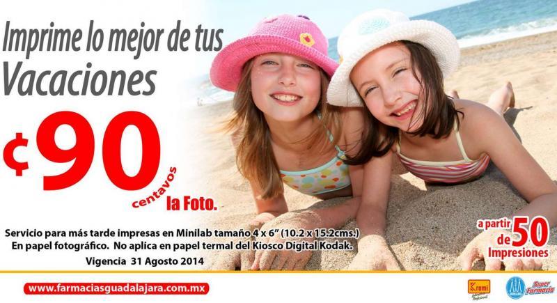 Farmacias Guadalajara: 2x1 en ampliaciones y fotos normales a 90 centavos con mínimo