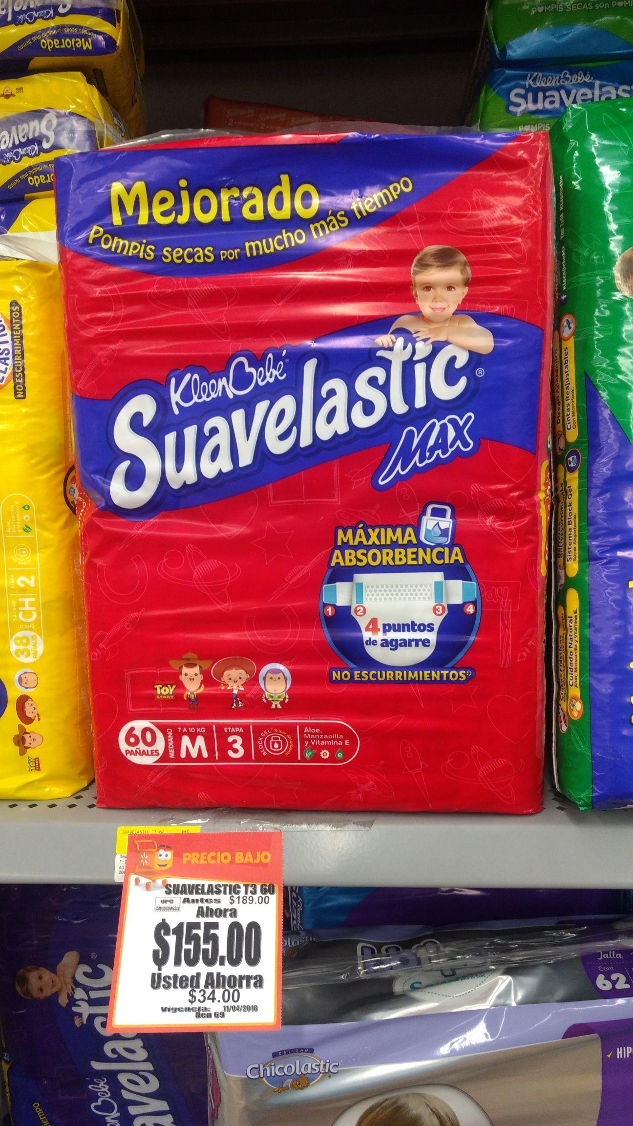 Walmart: Pañales Suavelastic Mediano Etapa 3