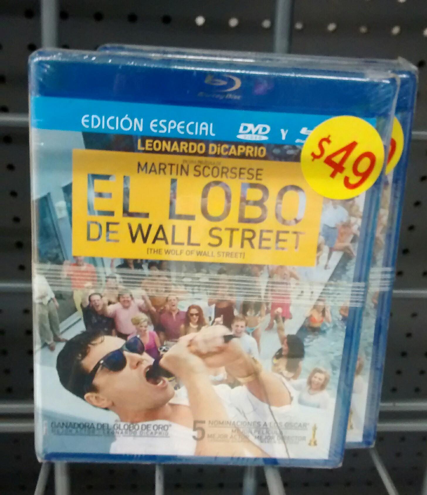 Soriana: El Lobo de Wall Street Blu Ray + DVD a $49 pesos