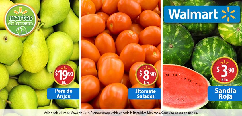 Walmart: Martes de Frescura 19 de mayo, Sandía roja a 3.90 el Kilo y más Ofertas