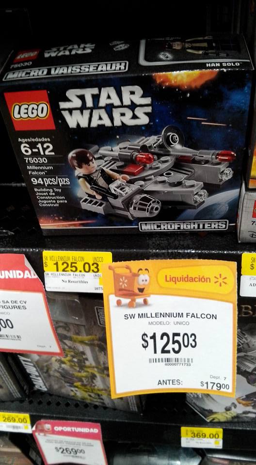 Walmart: Lego Star Wars Halcón Milenario $125.03