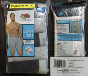 Soriana Híper: Fruit Of The Loom - Boxer Briefs 5 pack