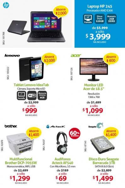 PCEL: audífonos con micrófono $69 y tablet Lenovo IdeaTab $999