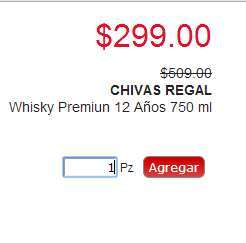 HEB: whisky Etiqueta Roja $$149, Chivas Regal $350 y Buchanan's $350