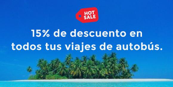 Reserbus promoción de hot sale 2015: 15% de descuento en todos los viajes