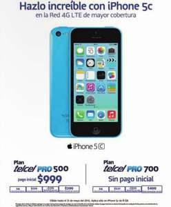 Telcel: iPhone 5C 8GB a $999 en plan de $399