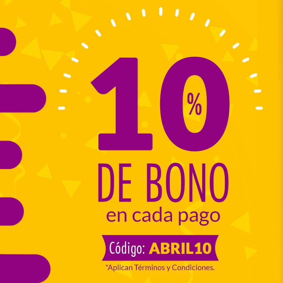 UnDosTres: Recibe 10% de bono en cada transacción que realices
