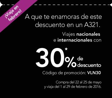 VOLARIS 30% DE DESCUENTO VIAJES NACIONALES E INTERNACIONALES + 20% CON VCLUB