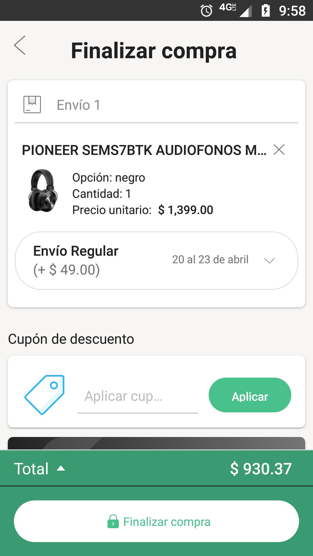 Linio: Audífonos Pioneer SEMS7BTK