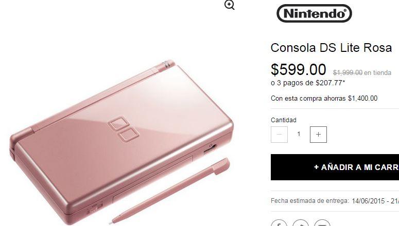 Privalia: Nintendo DS Lite $599 o Nintendo DSi $799