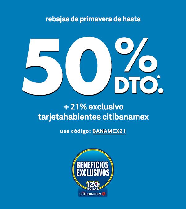 Forever 21 en línea:Rebajas de hasta el 50% de descuento + 21% adicional pagando con Banamex