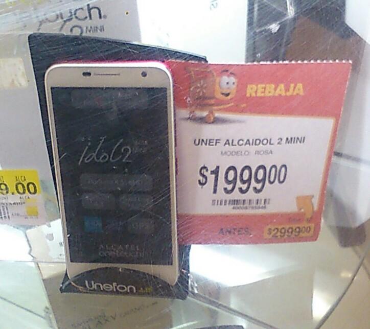 Walmart: Alcatel idol 2 MINI UNEFON a $1,999