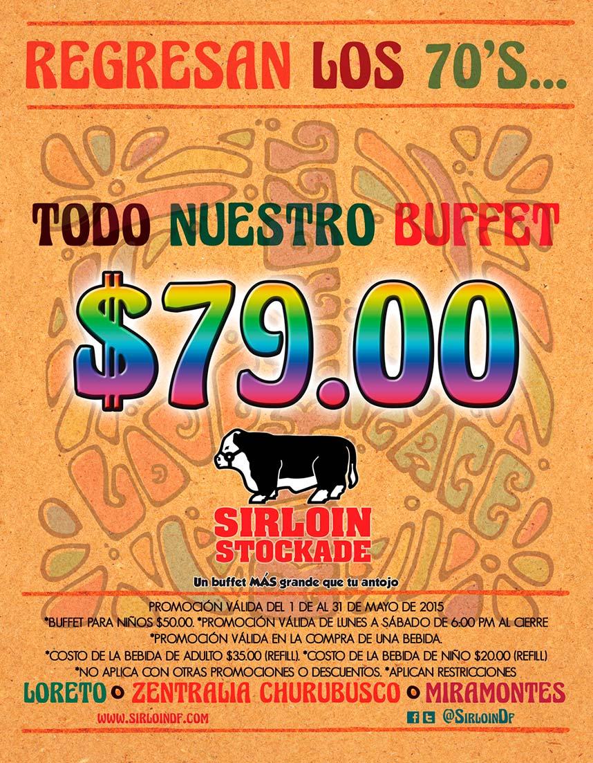 Sirloin Stockade: buffet desde $79