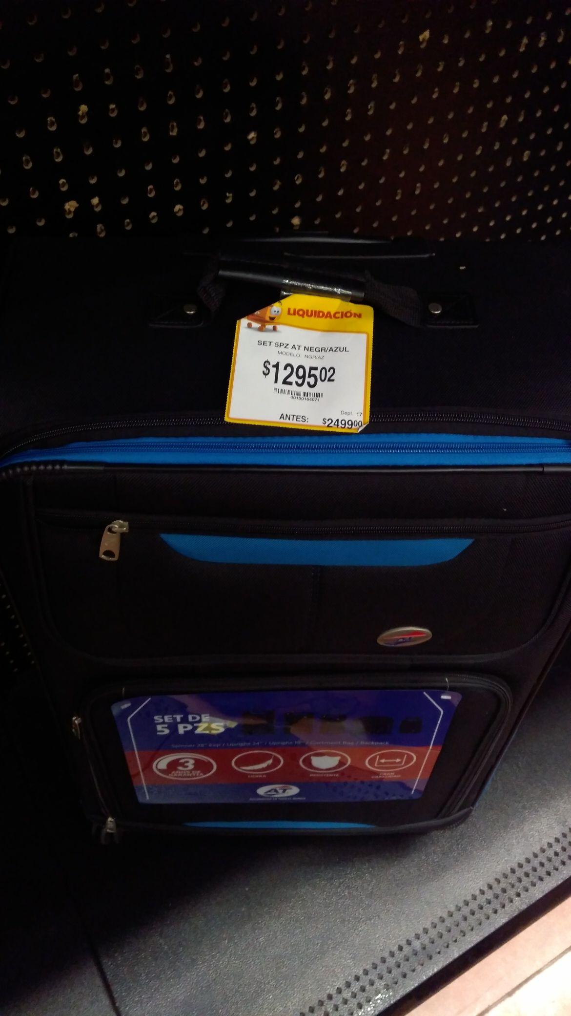 Walmart: Set 5 maletas AT