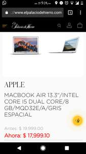 "Macbook Air 13"" Palacio de Hierro"