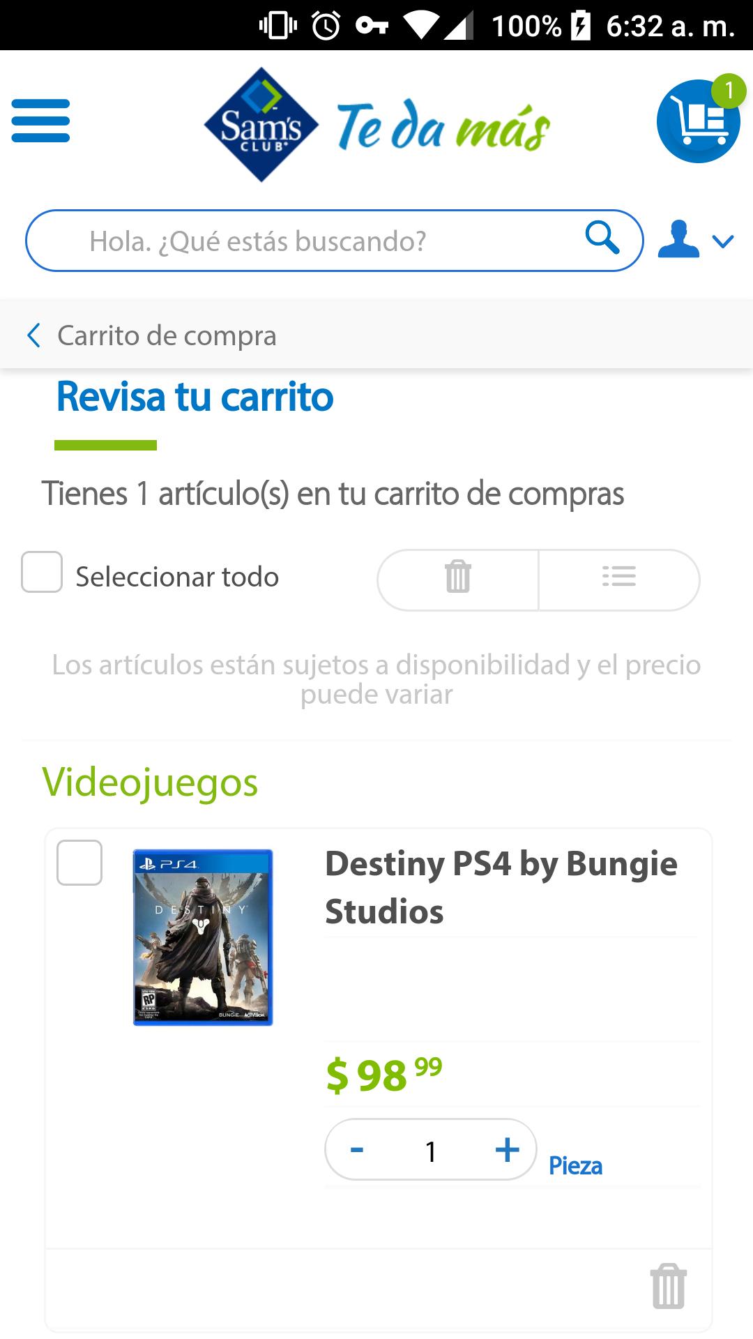 Sam's Club: Destiny PS4
