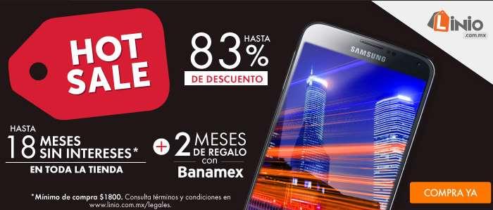 Promociones de Hot Sale 2015 en Linio con Banamex, Banorte, PayPal y American Express