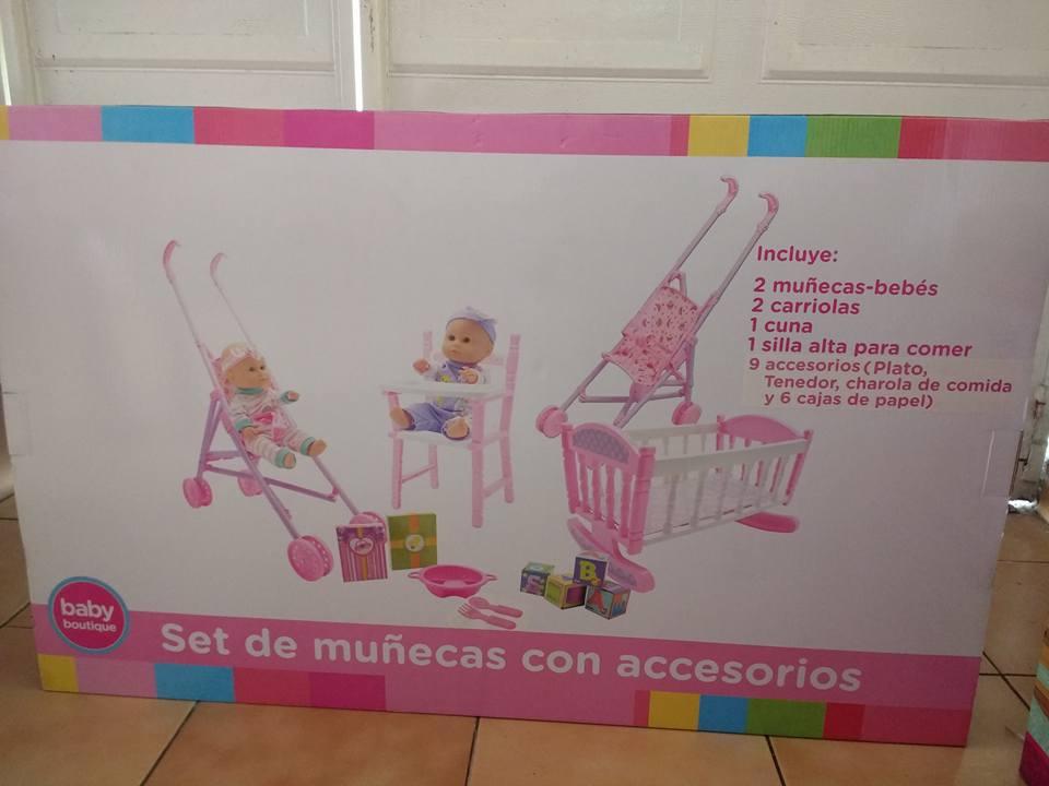 Bodega Aurrerá:  liquidación set munecas con carriolas