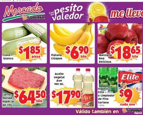 Ofertas de frutas y verduras en Soriana 27 y 28 de enero: plátano $6.90 y más