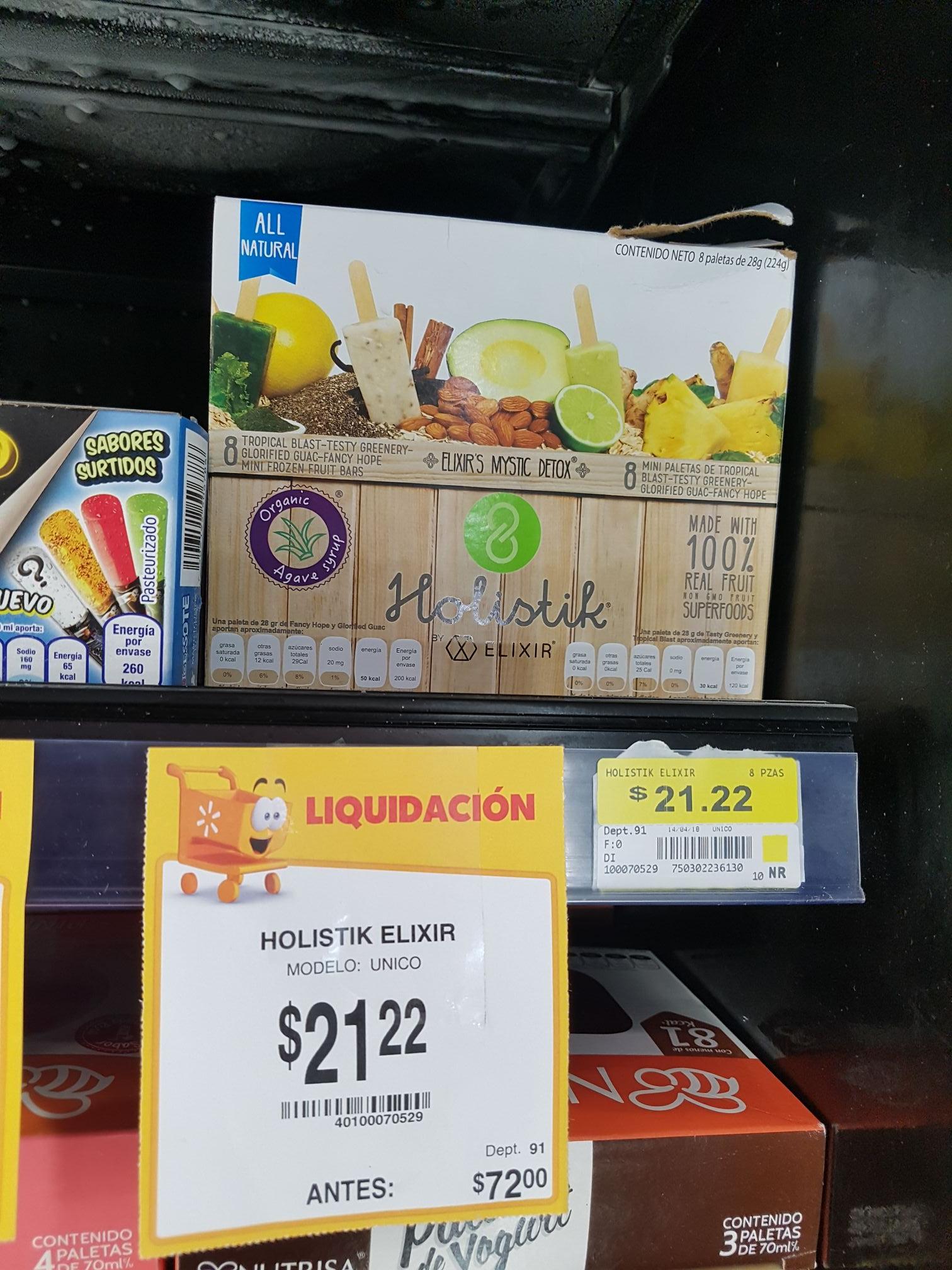 Walmart: Mini paletas orgánicas  y más