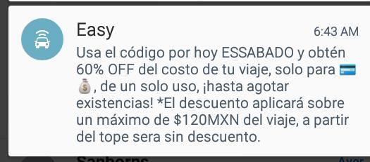 Easy Taxi: Código 60% de descuento (Guadalajara).