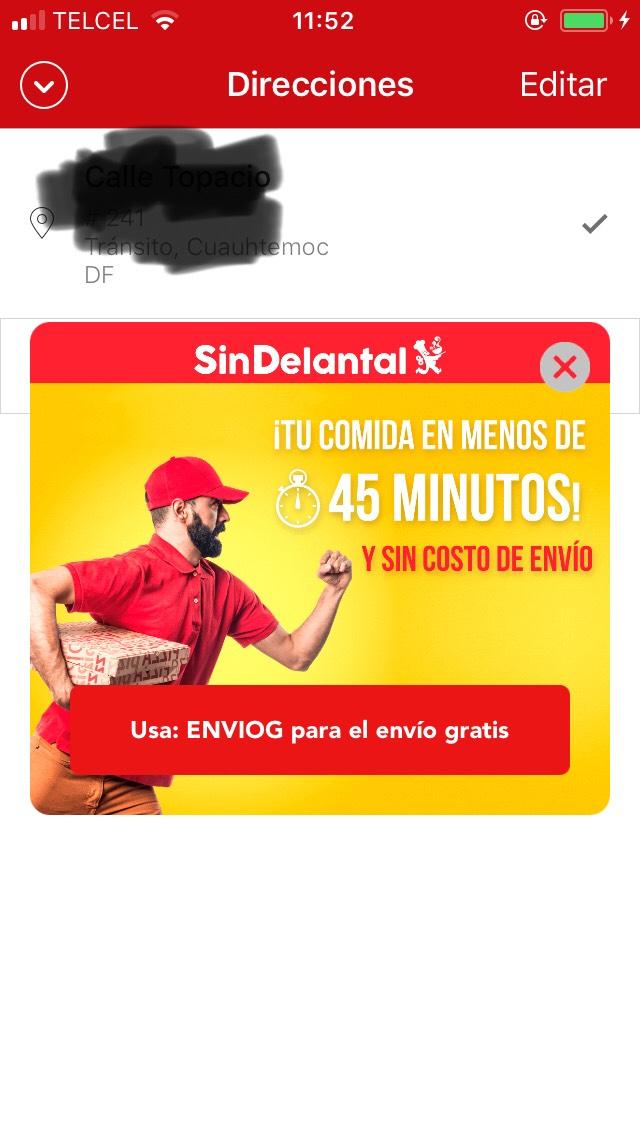 SinDelantal: Cupón para Envío gratis