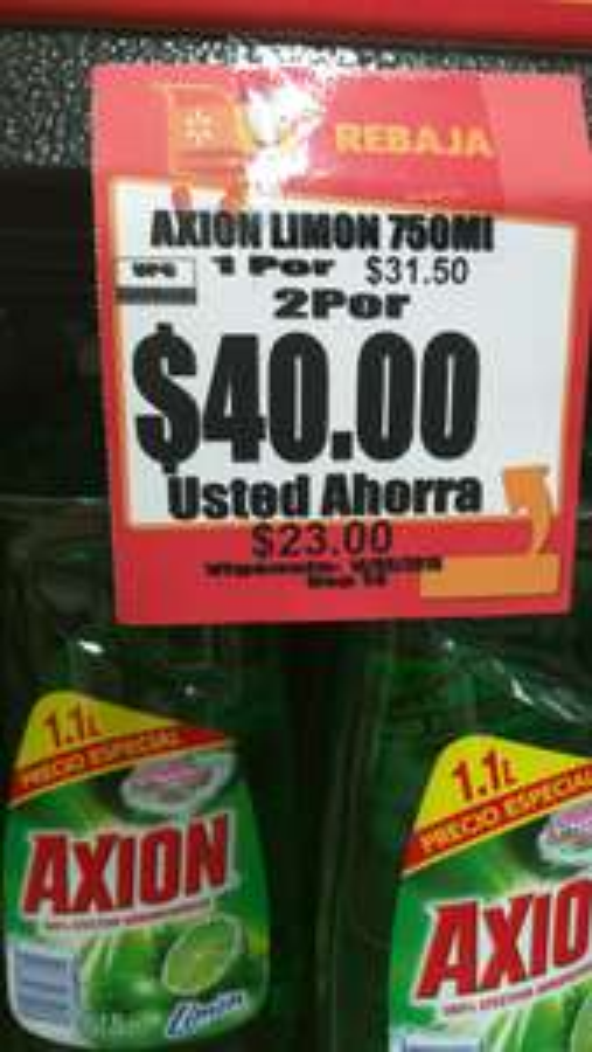 Walmart Polígono Mérida: Axion 750ml 2 x $40