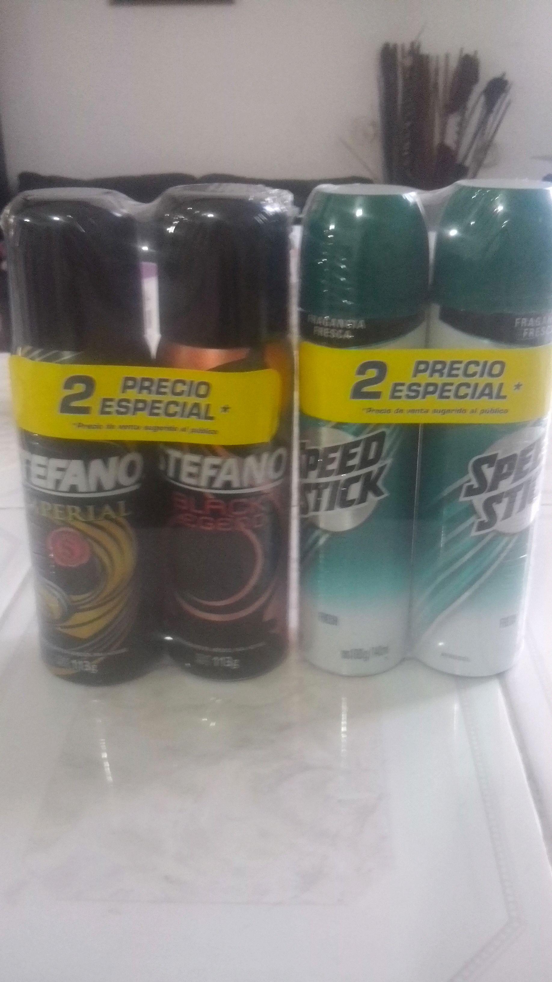 Bodega Aurrerá: Liquidación desodorante para hombre stefano y speed stick