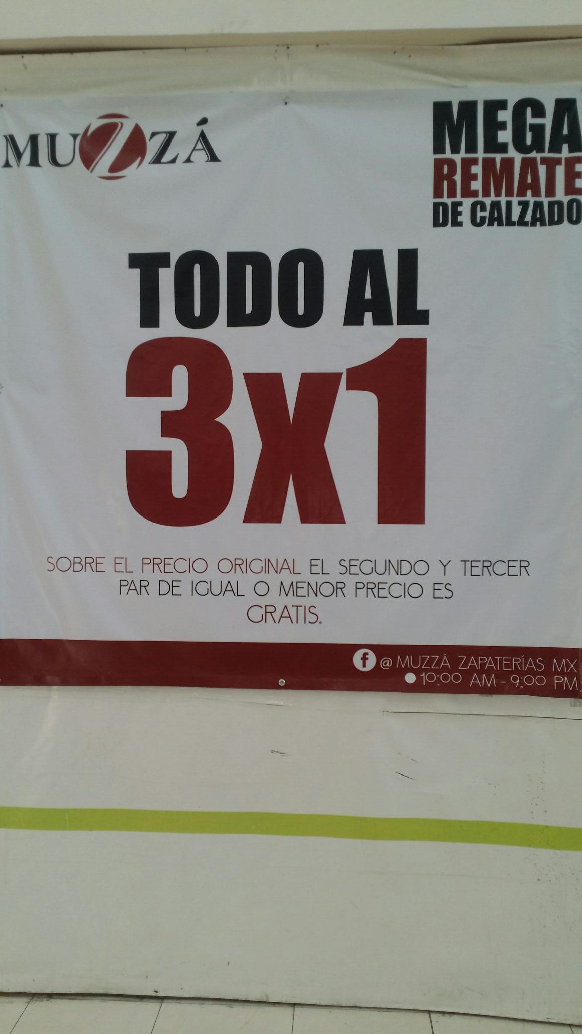 HEB Concordia, Apodaca, NL. ¡Liquidación por cierre  zapateria MUZZA/OZZONO al 3x1