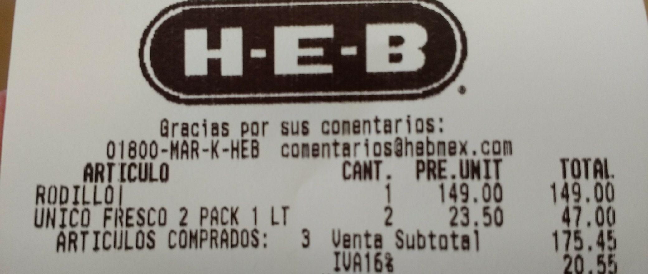 HEB León López Mateos: 2 litros de jugo de Arándano Jumex