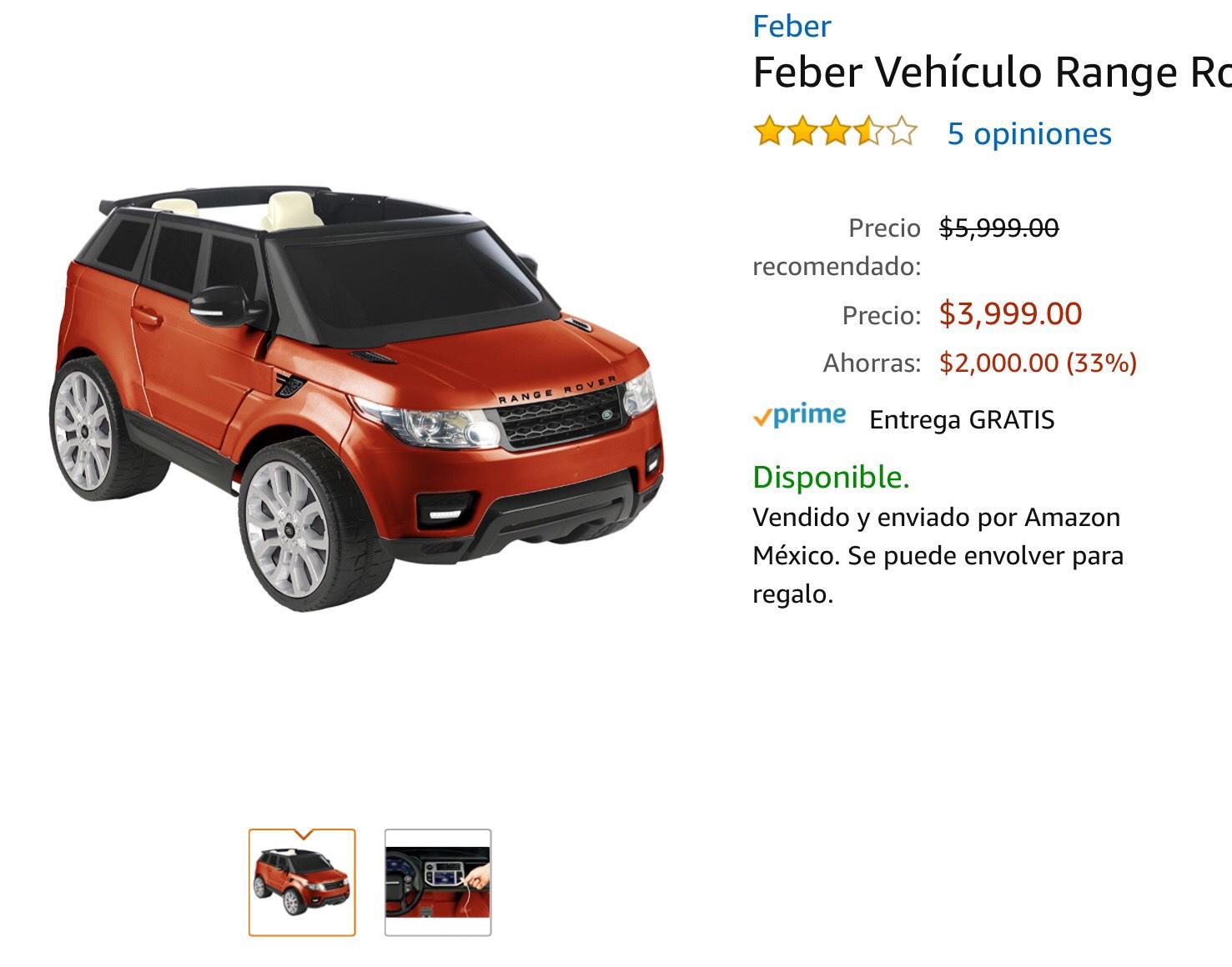 Amazon: RAnge Rover de la marca Feber