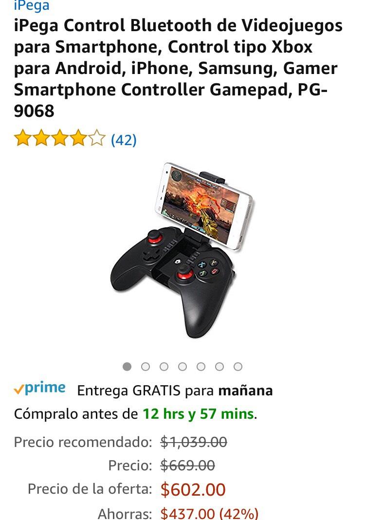 Amazon: Control Bluetooth de Videojuegos para Smartphone